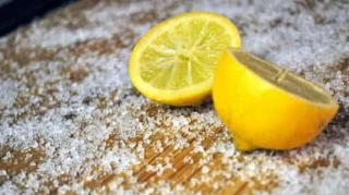 nettoyer planche découper bois citron