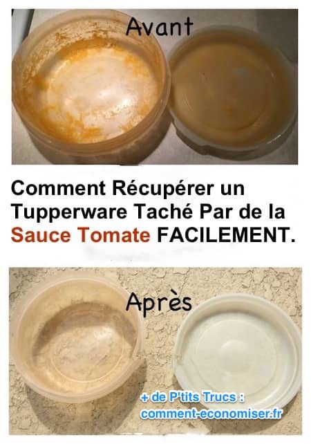 comment r cup rer un tupperware tach par de la sauce tomate facilement. Black Bedroom Furniture Sets. Home Design Ideas