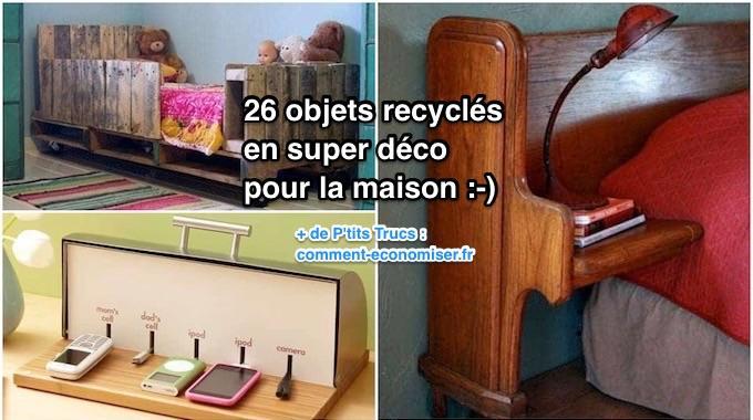 26 objets recycl s en super d co pour la maison. Black Bedroom Furniture Sets. Home Design Ideas