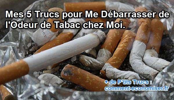 astuces contre odeurs de tabac