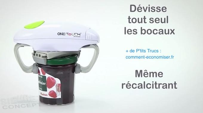 Produit Malin : L'Ouvre Bocal Automatique Qui Ouvre N'importe Quel Bocal TOUT SEUL.