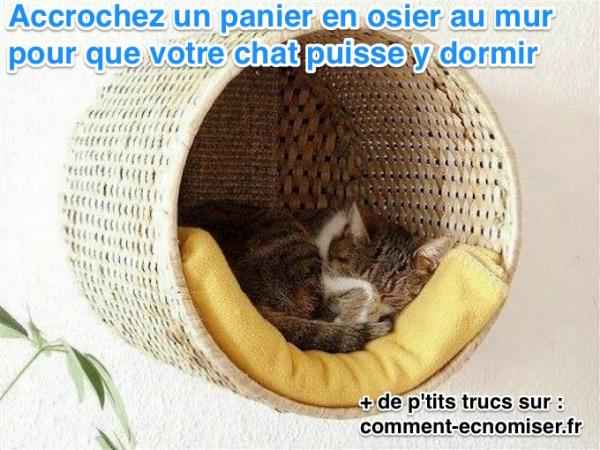 gain de place cr ez un panier perch fait maison pour votre chat. Black Bedroom Furniture Sets. Home Design Ideas