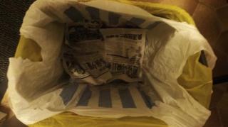 papier journal poubelle