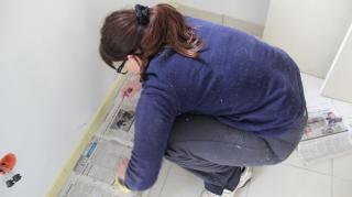 protection peinture sol