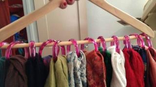 rangement foulards