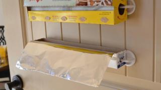 rangement rouleau papier alu