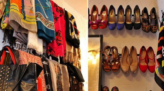 des rangements diy faciles et pas chers pour chaussures et charpes. Black Bedroom Furniture Sets. Home Design Ideas