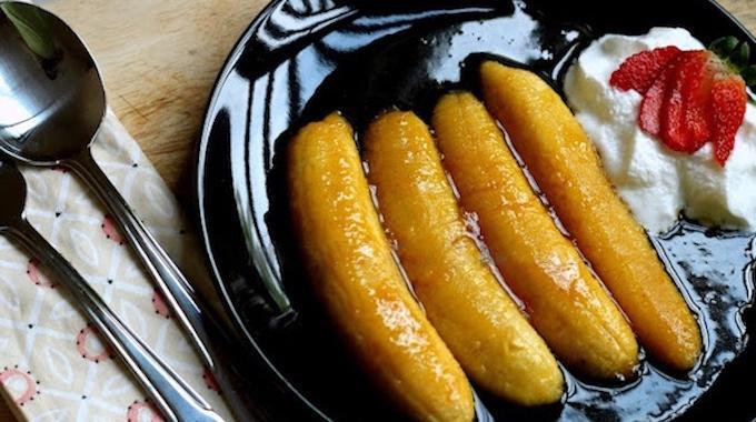 Rapide et facile la recette des bananes flamb es l for Astuce cuisine rapide