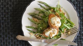 recette chèvres chauds sur salade croquante