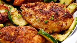 recette de poulet croustillant courgettes