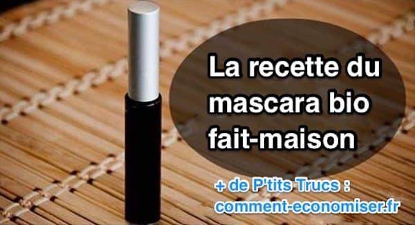 Un des avantages d'utiliser un mascara fait-maison est qu'il est sans produits chimiques.