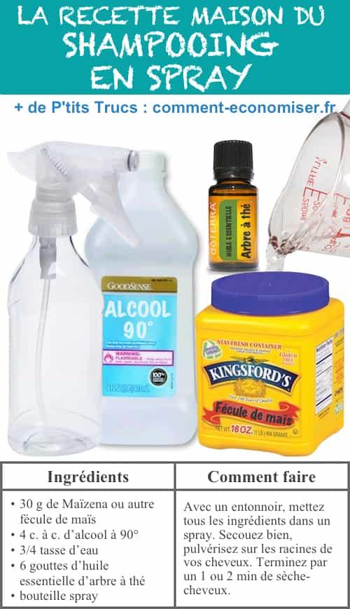 Voici le shampooing en spray fait maison qui remplace les produits du commerce.