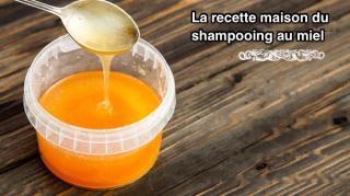 recette maison shampooing miel