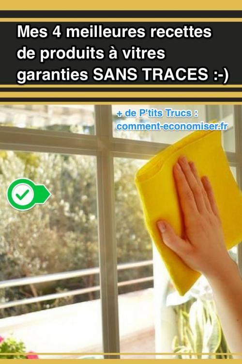 Mes 4 meilleures recettes de produits vitres garanties for Nettoyer les vitres sans laisser de traces