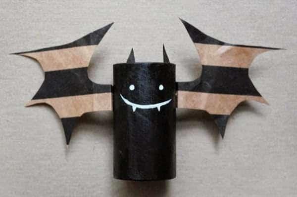 chauve souris carton bricolage enfant carton