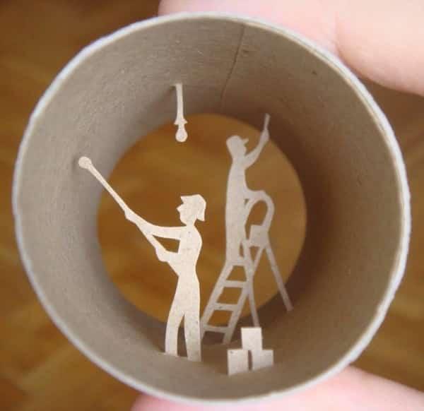 61 fa ons cr atives de r utiliser les rouleaux de papier toilette - Papillon avec rouleau de papier toilette ...