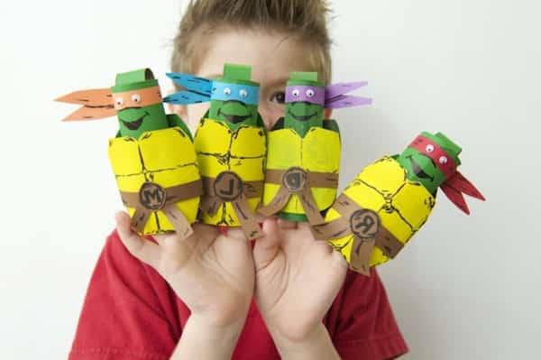 réalise tortues ninja en carton facile