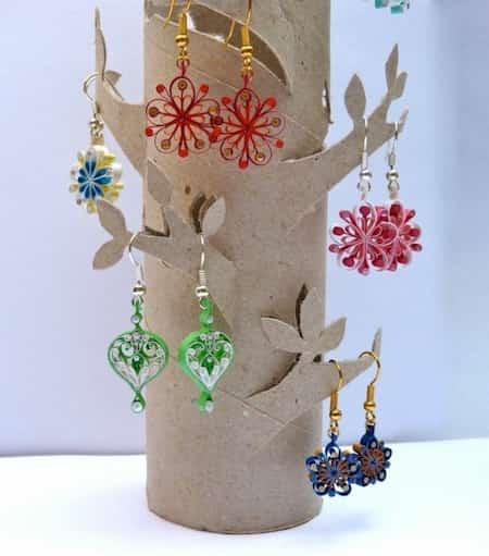 porte-bijoux en carton facile à réaliser