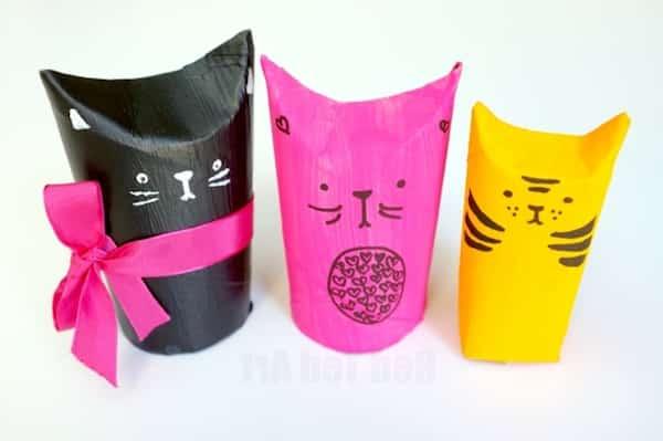 boite chat japonais diy rouleau papier wc