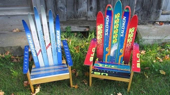 18 Façons Astucieuses de Recycler les Vieux Skis.