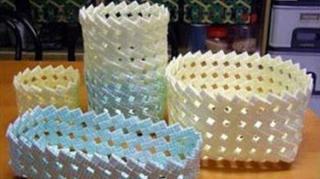 recycler paille en corbeille