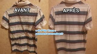 Repasser chemise rapidement sans fer