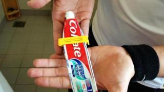 retenir dentifrice