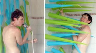 rideau de douche pour économiser eau