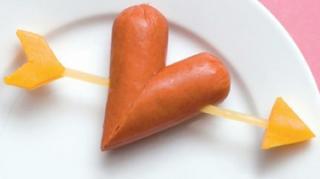 saucisse en forme coeur