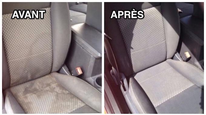 Comment nettoyer facilement vos si ges de voiture - Siege en forme de main ...