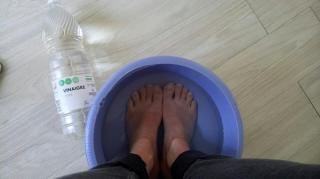 soulager pieds gonflés douloureux vinaigre