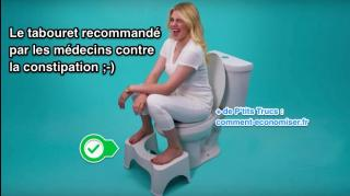 tabouret contre constipation toilettes