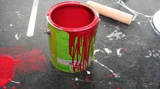 tache pot de peinture