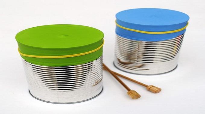 fabriquer un tambour pour enfant avec trois fois rien. Black Bedroom Furniture Sets. Home Design Ideas