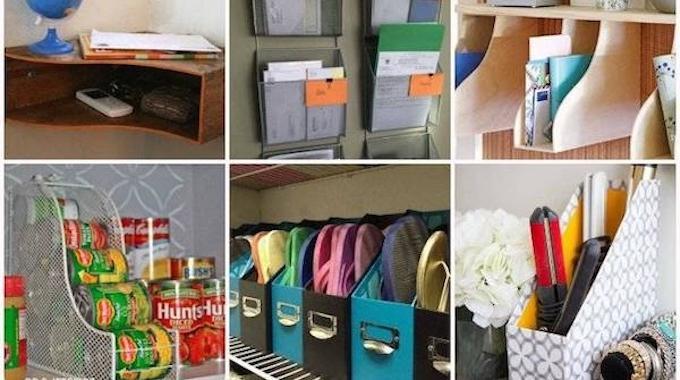 21 utilisations incroyables des porte revues pour organiser toute la maison - Fabriquer un porte revue ...
