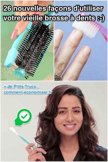 une vieille brosse à dents peut servir à faire le ménage