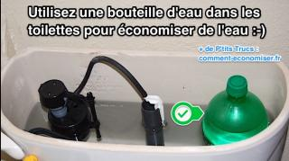 utiliser bouteille eau dans toilettes