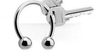 utiliser piercing comme porte clés