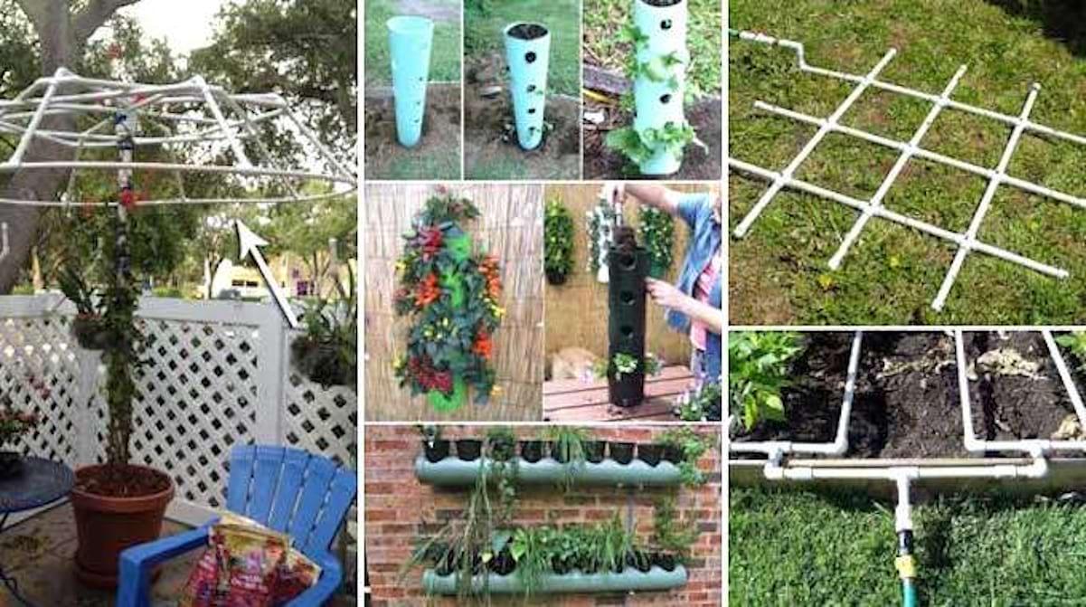 Gouttière Pvc En U jardin : 20 façons ingénieuses d'utiliser les tuyaux en pvc.