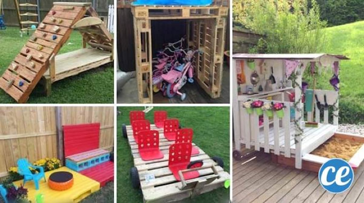 Abri De Jardin Avec Palettes 21 façons d'utiliser des palettes en bois que vos enfants