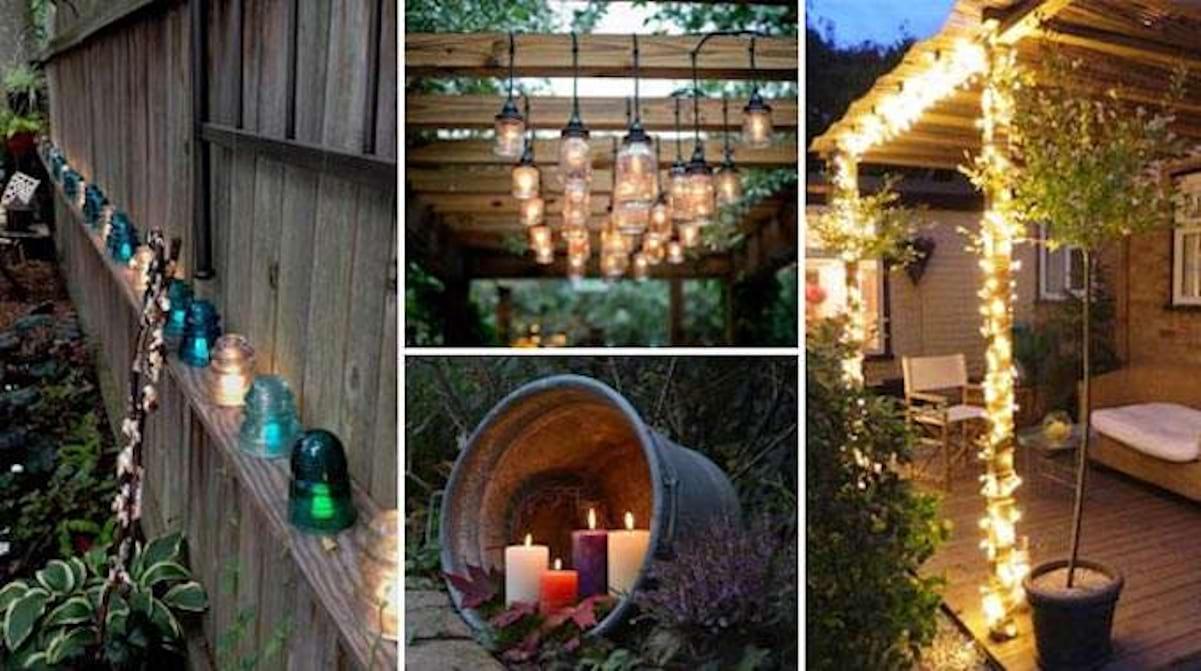 29 Super Idées d\'Éclairage Pour le Jardin (Pas Chères Et ...