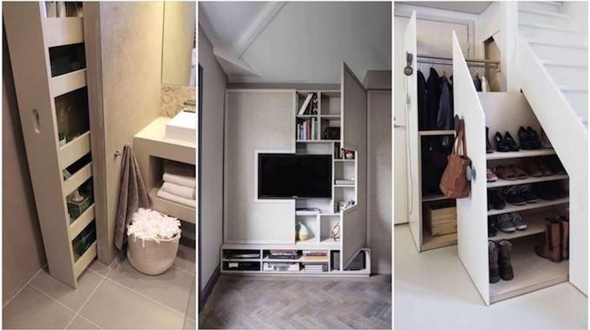 Mur De Rangement Salon 28 super idées de rangement pour gagner de la place à la maison.