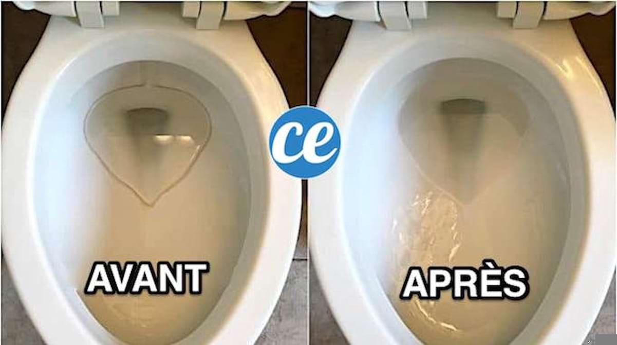 Nettoyer Lunette Toilettes Vinaigre Blanc l'astuce secrète pour Éradiquer les traces dans la cuvette