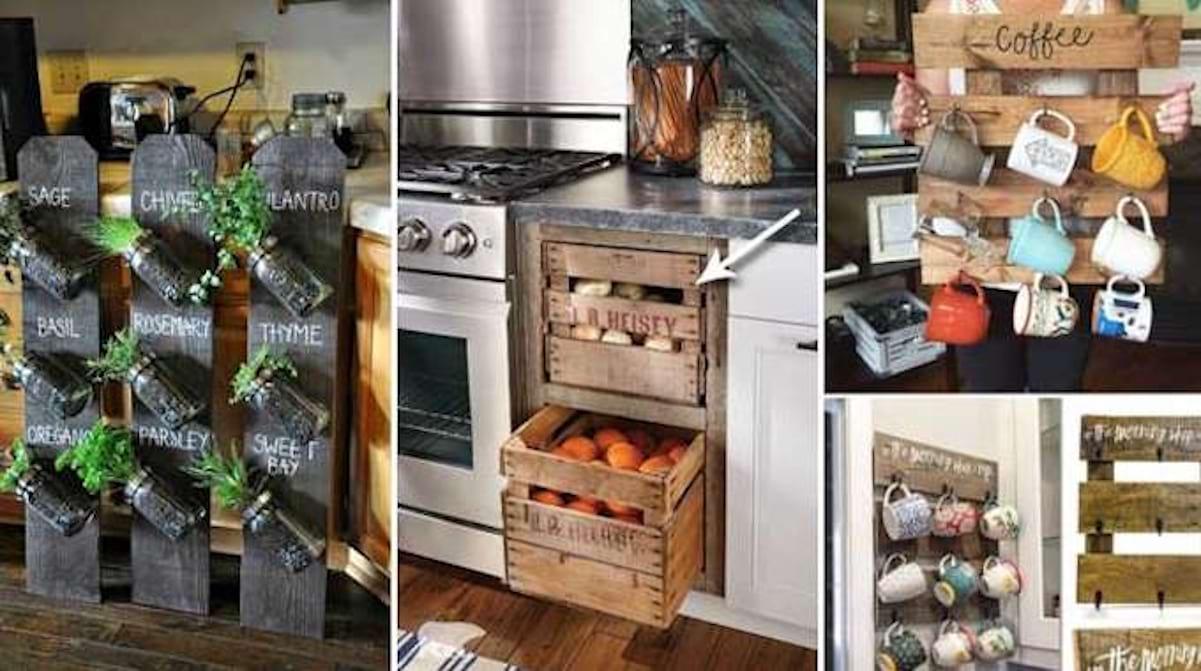 Credence Verre Ilot Central 23 utilisations incroyables des vieilles palettes en bois