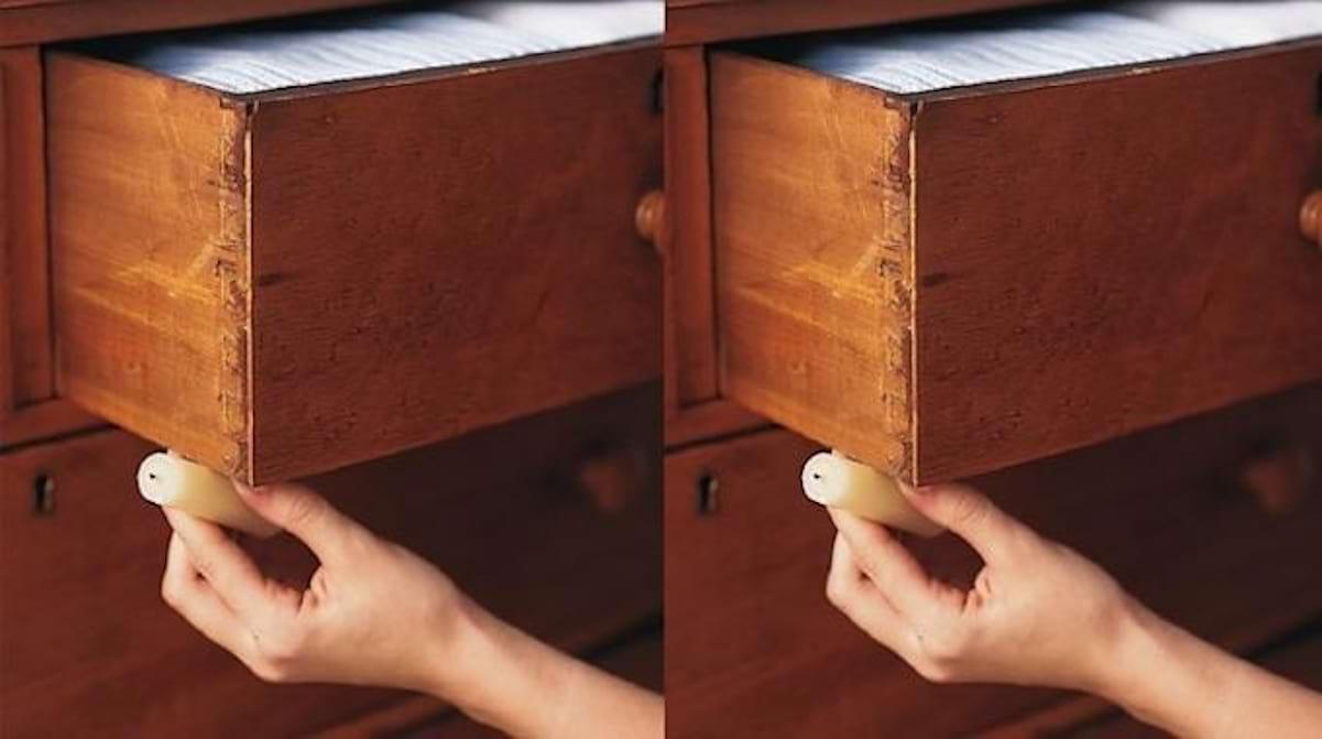 Fabriquer Un Tiroir Coulissant l'astuce pour décoincer un tiroir difficile à ouvrir.