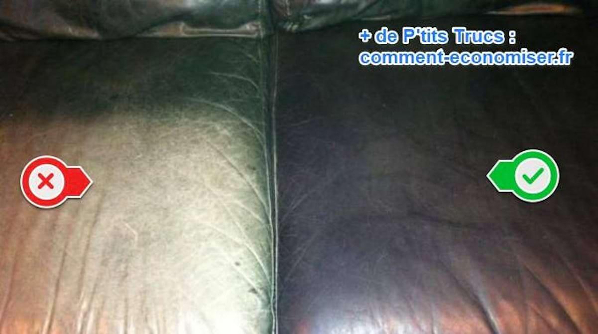 Entretien Canapé Cuir Naturel le truc simple et Économique pour entretenir le cuir