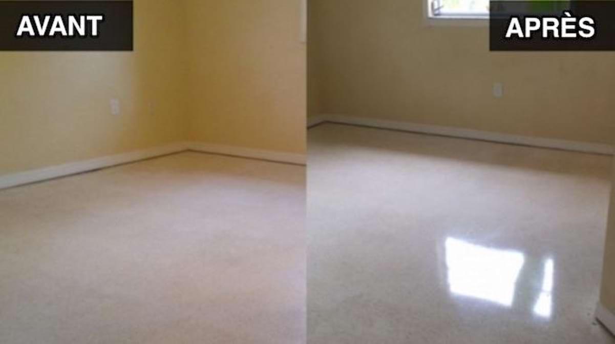 Rénover Un Carrelage De Sol l'astuce pour faire briller votre sol en lino instantanément.