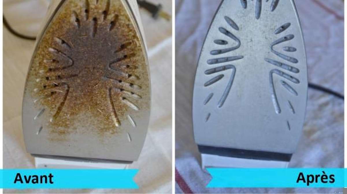 Nettoyer Semelle De Fer le truc Écologique pour nettoyer la semelle d'un fer à repasser.